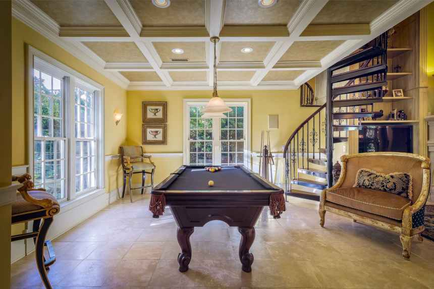 apartment architecture beautiful billiard table